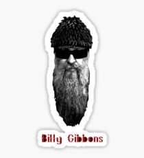 Billy Gibbons HEAD Sticker