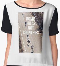 Bomb Hills Not Countries Women's Chiffon Top