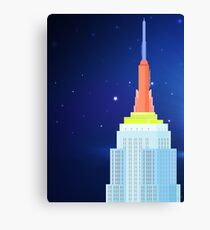 Empire State Building New York Illustration Canvas Print