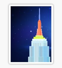Empire State Building New York Illustration Sticker