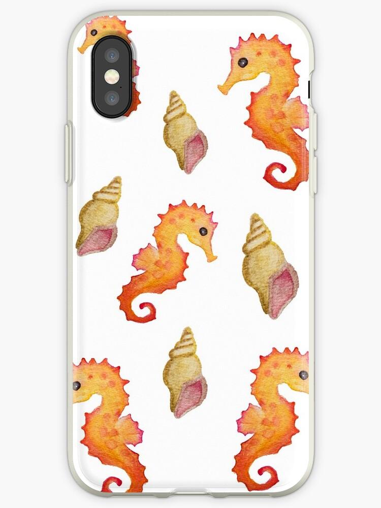 coque iphone xr motif coquillage