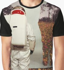 Astronaut Flowers Graphic T-Shirt