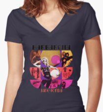Barbarella - cult movie 1969 Women's Fitted V-Neck T-Shirt