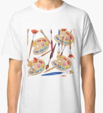 pattern palette with brushes Classic T-Shirt