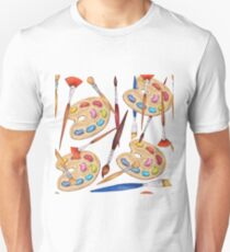 pattern palette with brushes Unisex T-Shirt