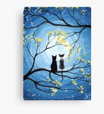 Cats Full Moon  Canvas Print
