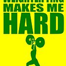 Funny Sport - Weight Lifting Makes Me Hard - green by tommytidalwave