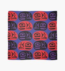 Red & Purple Ovoids Eagle Family Scarf