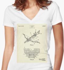 Crossbow-1966 Women's Fitted V-Neck T-Shirt