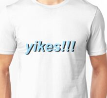 yikes!!! in blue Unisex T-Shirt