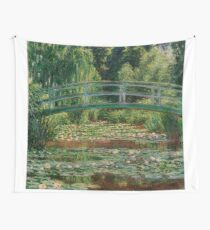 1899-Claude Monet-The Japanese Footbridge and the Water Lily Pool, Giverny-89 x 93 Wall Tapestry