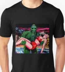 The swamp monster carrying his victim T-Shirt