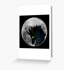 Sky and Moon - White Greeting Card