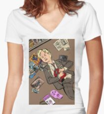 Shot Women's Fitted V-Neck T-Shirt