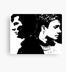 Sherlock and John, Dark and Light Canvas Print