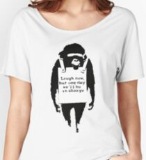 Banksy - Monkey in charge Women's Relaxed Fit T-Shirt