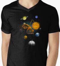 Cosmic Angler Fish Men's V-Neck T-Shirt
