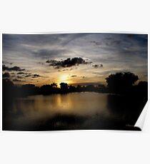 Under a Dark Cloud~ an Uneasy Sunset Poster