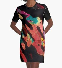 Abstract Vestido camiseta