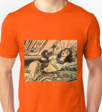 Egyptian Queen Cleopatra reclining on her bed T-Shirt