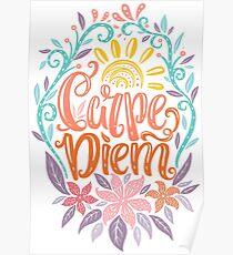 Carpe Diem - Seize the day Latin phrase Poster