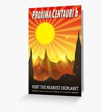 Proxima Centauri b Exoplanet Travel Illustration Greeting Card