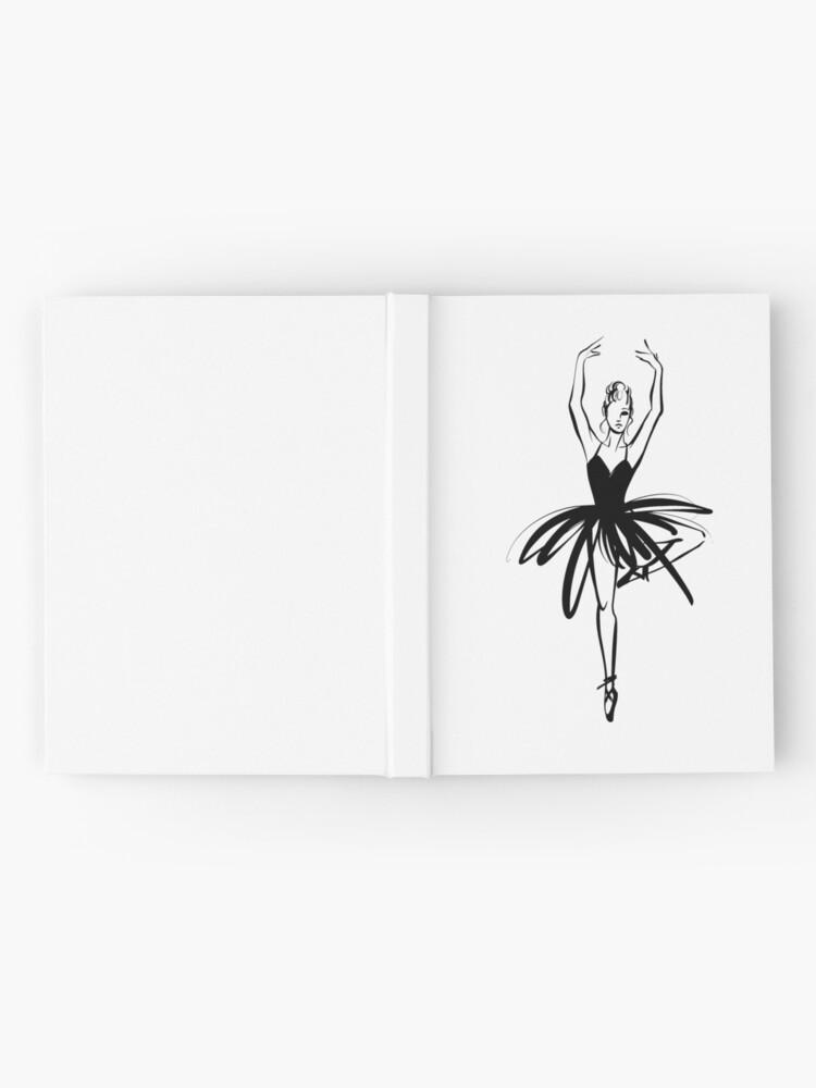 Vista alternativa de Cuaderno de tapa dura Ilustración gráfica dibujada a mano Ballet Dancer