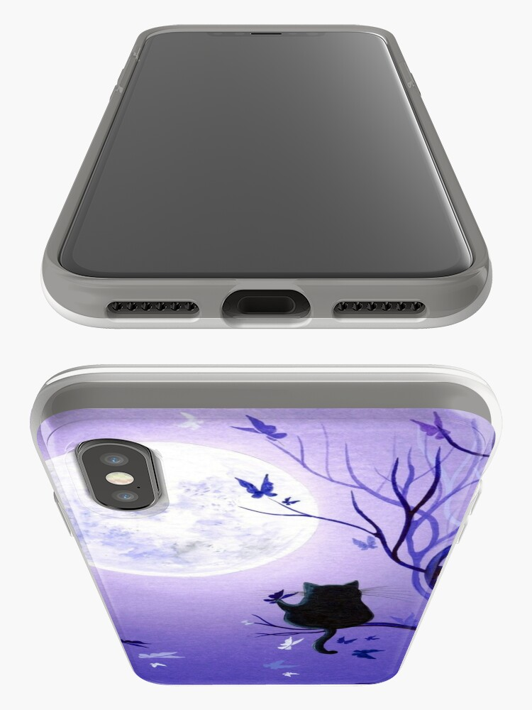 Vista alternativa de Funda y vinilo para iPhone Remolino mariposa