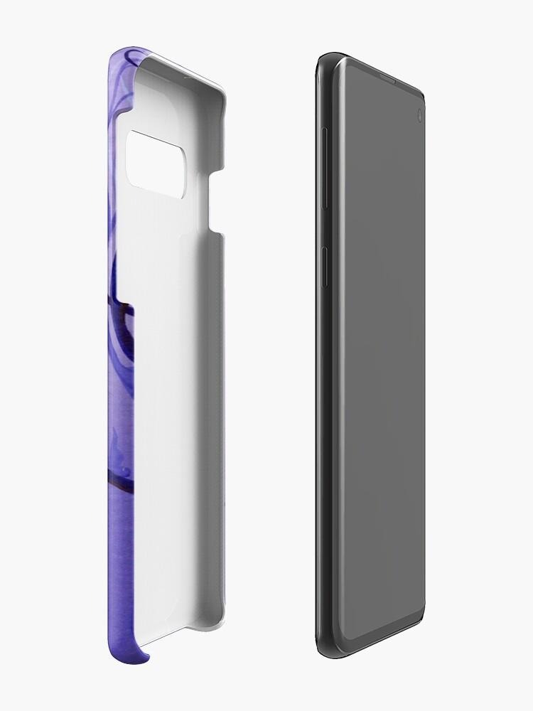Vista alternativa de Funda y vinilo para Samsung Galaxy Remolino mariposa