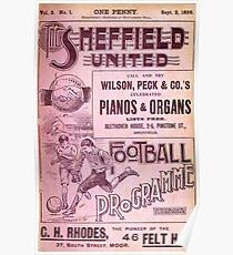 Sheffield United Football Club programme, 1899 Poster