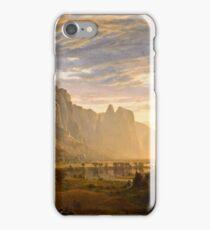 Albert Bierstadt - Looking Down Yosemite Valley, California (1865)  iPhone Case/Skin