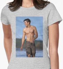 Zac Efron Womens Fitted T-Shirt