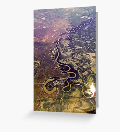 The Mighty Murray Winds its Way Greeting Card