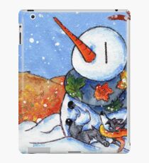 The First Snowman of the Season! iPad Case/Skin