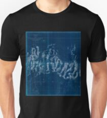 0079 Railroad Maps From the Humboldt Mountains to the Mud Inverted Unisex T-Shirt
