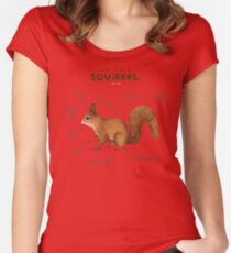 Anatomy of a Squirrel Women's Fitted Scoop T-Shirt