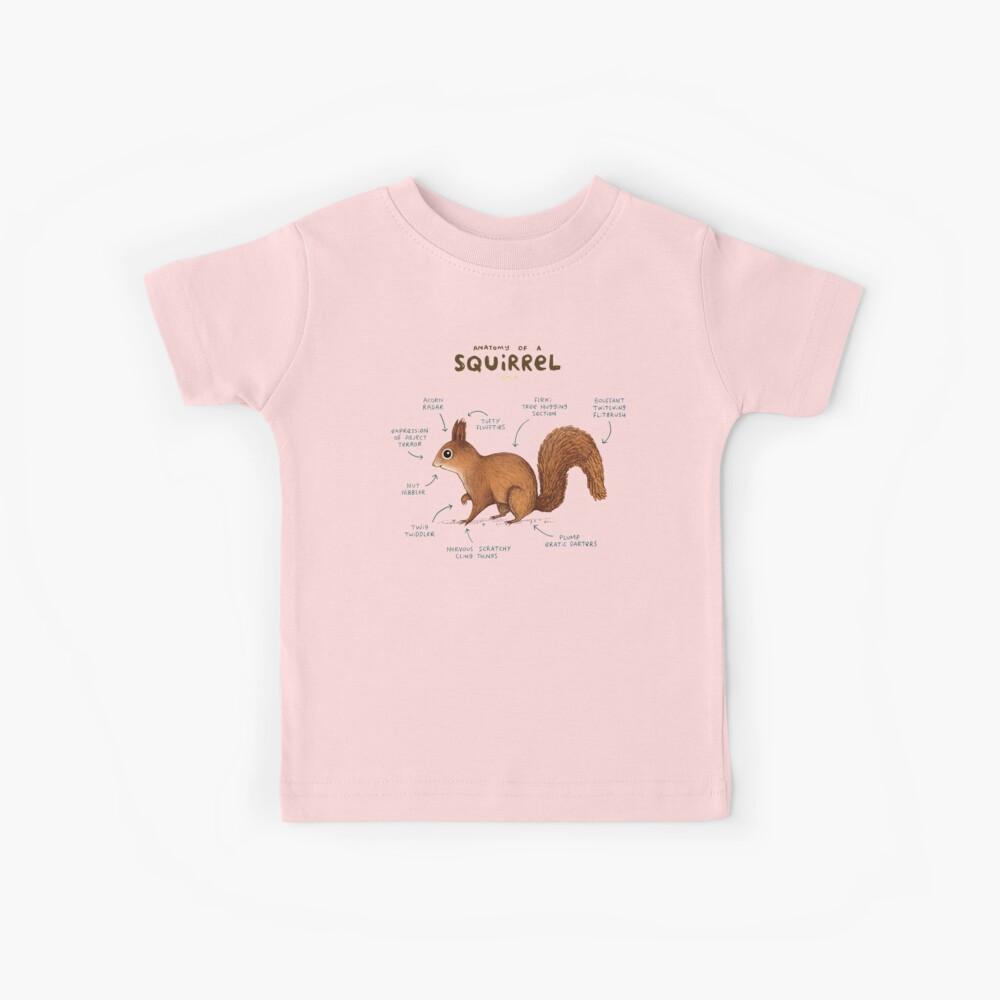 Anatomía de una ardilla Camiseta para niños