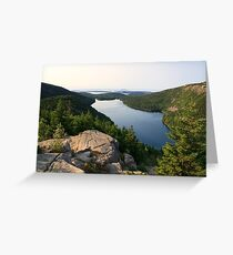 Jordan Pond from North Bubble, Acadia National Park, Maine Greeting Card