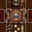 Stylish Steampunk Vintage Camera (TLR) No.1 Steampunk Phone Cases by Steve Crompton