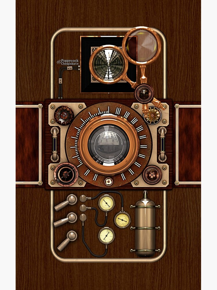 Stylish Steampunk Vintage Camera (TLR) No.1 Steampunk Phone Cases by SC001