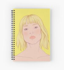 Lea- fashion illustration portrait Spiral Notebook