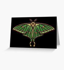 Spanish Moon Moth Painting Greeting Card