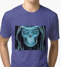 Halloween Grim Reaper Tri-blend T-Shirt