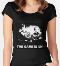 The Game Is On - Sherlock Women's Fitted Scoop T-Shirt