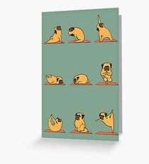 Pug Yoga Greeting Card