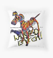 Wired Bitch Throw Pillow