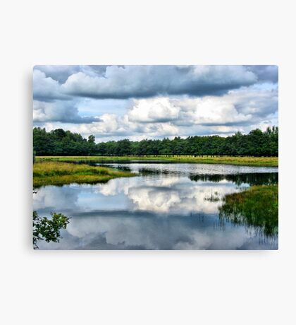 Clouds Reflection Canvas Print