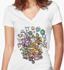 Paper Mario Women's Fitted V-Neck T-Shirt