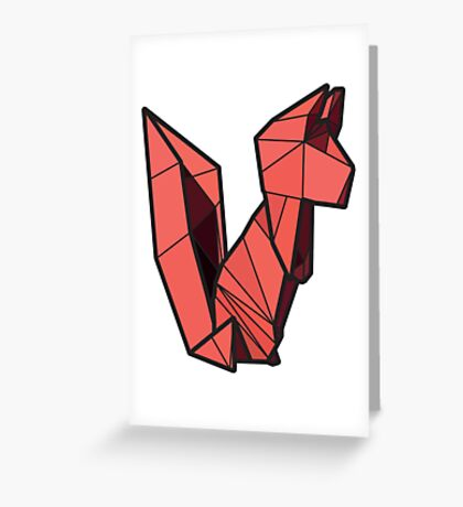 Origami Squirrel Greeting Card