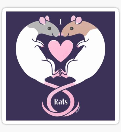 I Hearts Rats #2 Sticker